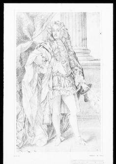 236x332 A Chalk Drawing Of James, Duke Of York, Standing Full Length. He