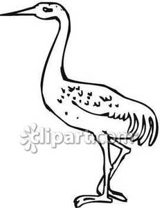 231x300 Black And White Crane