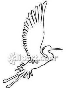 225x300 Black And White Crane Flying