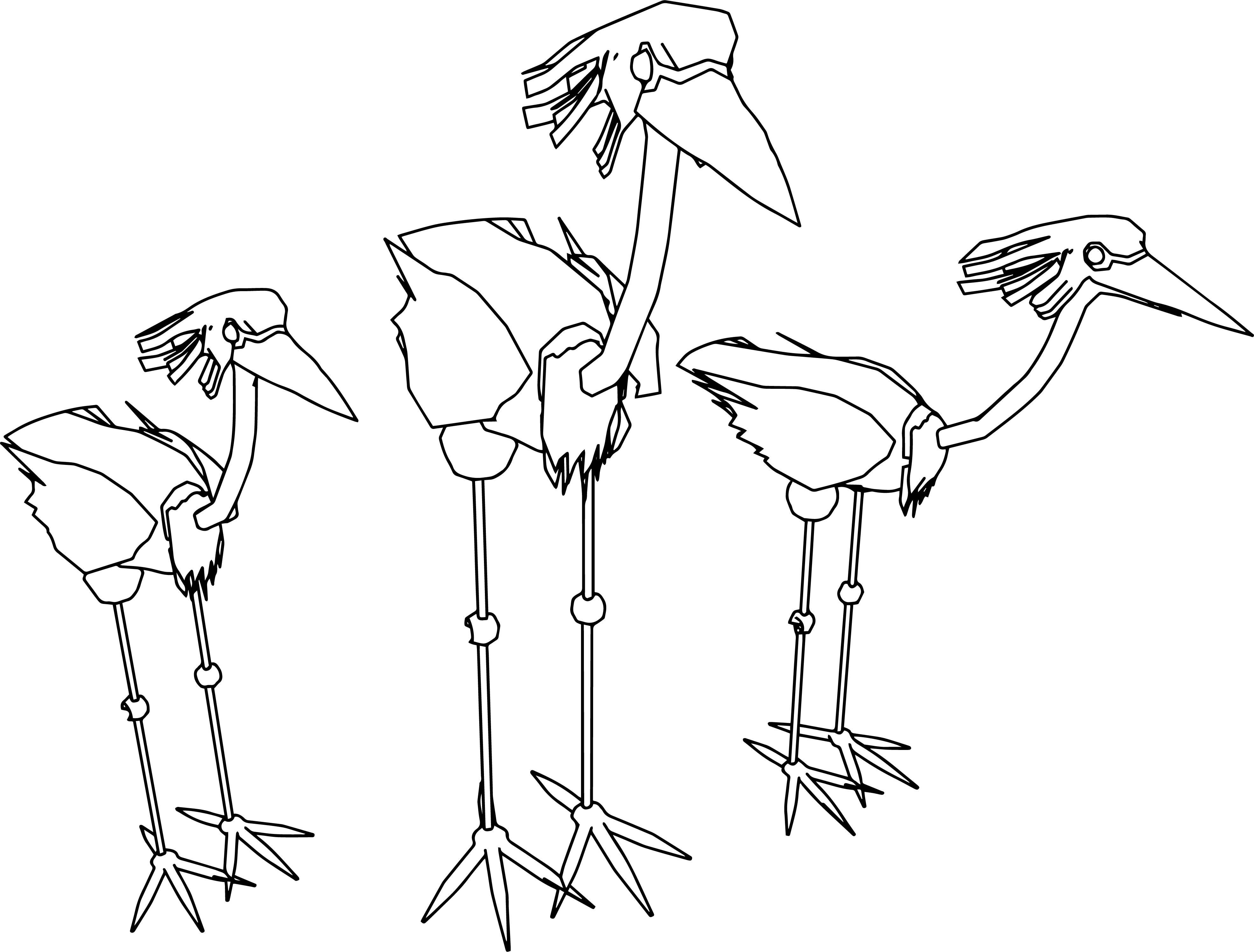 3941x2992 White Crane Animal Totem Free Draw To Color