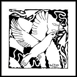 250x249 Maze Of A White Dove Drawing By Yonatan Frimer Maze Artist