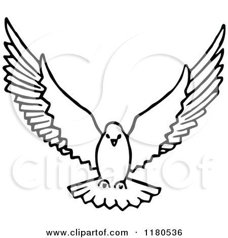 450x470 Elegant Doves Flying Drawing Dove Flying Royalty Free