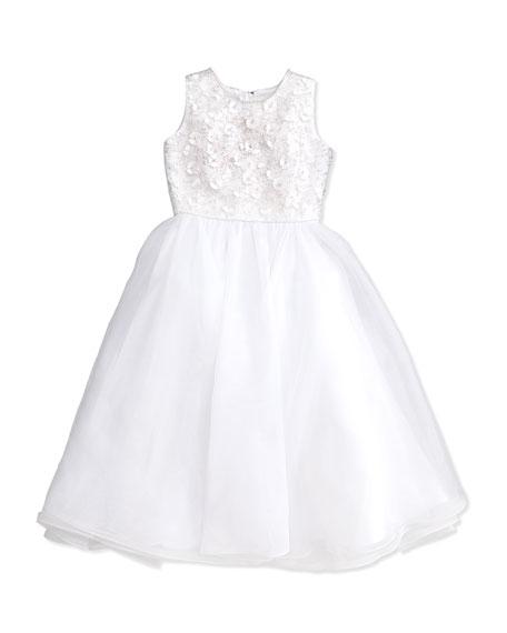 456x570 Likely Kensington Crisscross Sleeveless Dress, White Neiman Marcus