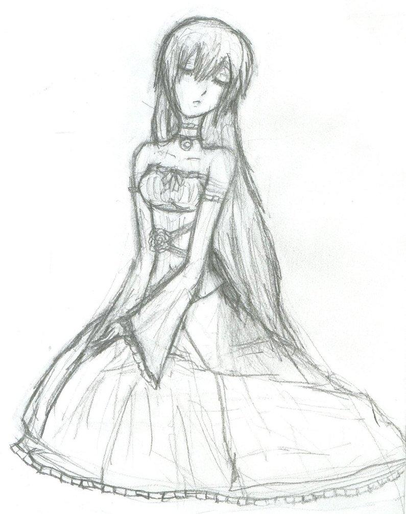 795x1005 Mizuki's Dress Sketch By Silverdeathrose
