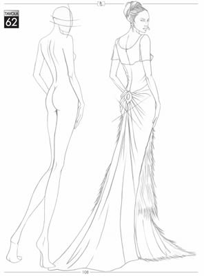 296x400 Sketch Of A Cocktail Dress