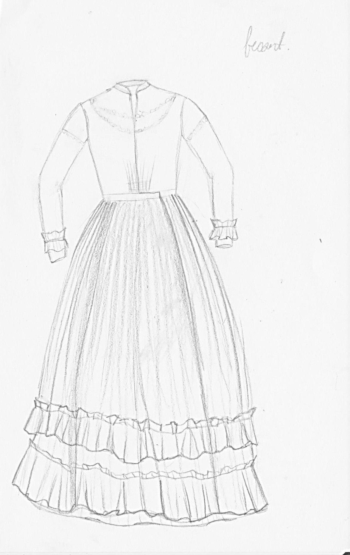 1175x1861 Study Of A Summer Day Dress Ca.1860 Ryerson Fashion Research