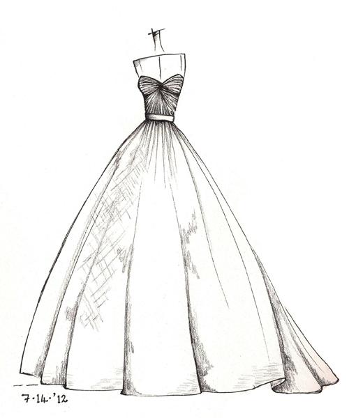 500x600 Wedding Dress Sketches