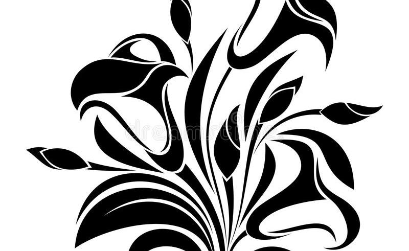 800x491 Black Pretty Flower Drawings Gardening Flower And Vegetables