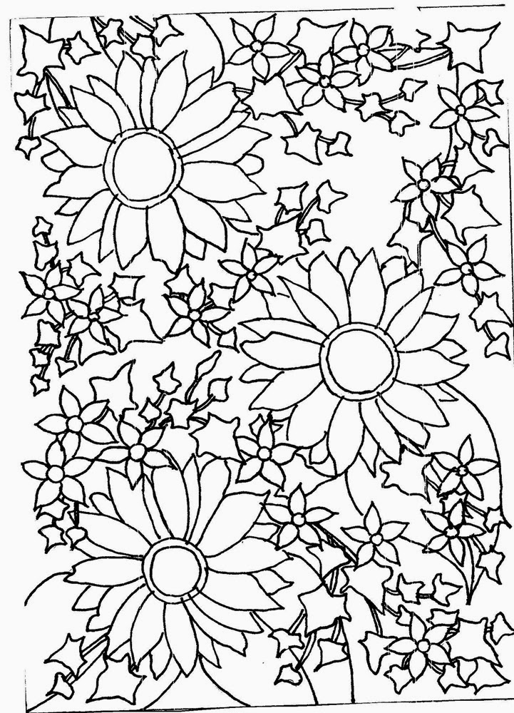 721x1000 Flower Drawings In Black And White Many Flowers