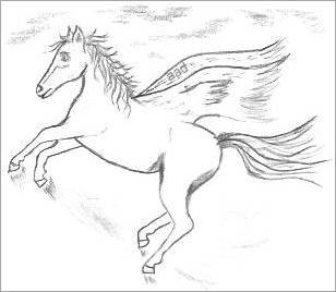 308x268 Fantasy Drawings Of Horses