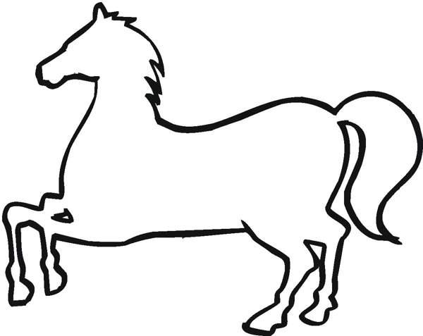600x477 Horse Outline Clipart