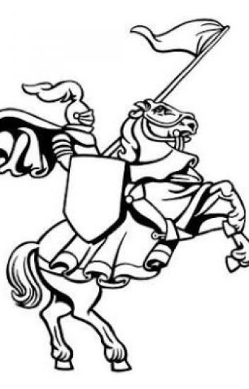 352x550 The White Knight Of The Black And White Horse.