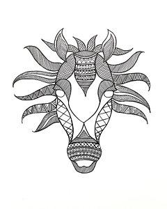 240x300 White Horse Head Drawings Fine Art America