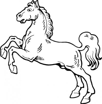 418x425 White Horse Clip Art Clipart Panda