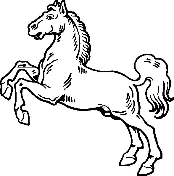 588x597 White Horse Clip Art Free Vector 4vector