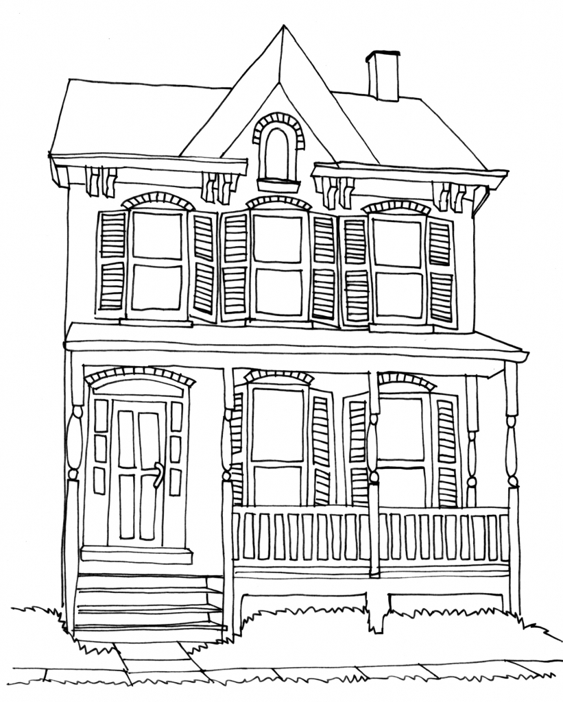 821x1024 Simple Pencil Sketches Of Houses Simple House Drawing How To Draw