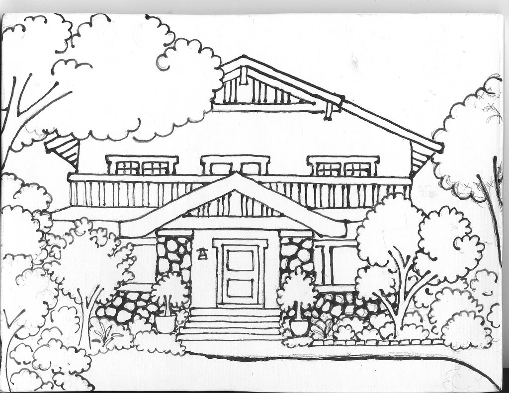 1024x791 Tcheng House, Drawing On Tile Ramonapalomatile's Blog