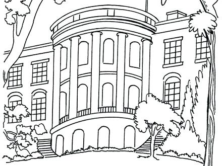 440x330 The White House Coloring Page House Coloring Sheet Gingerbread