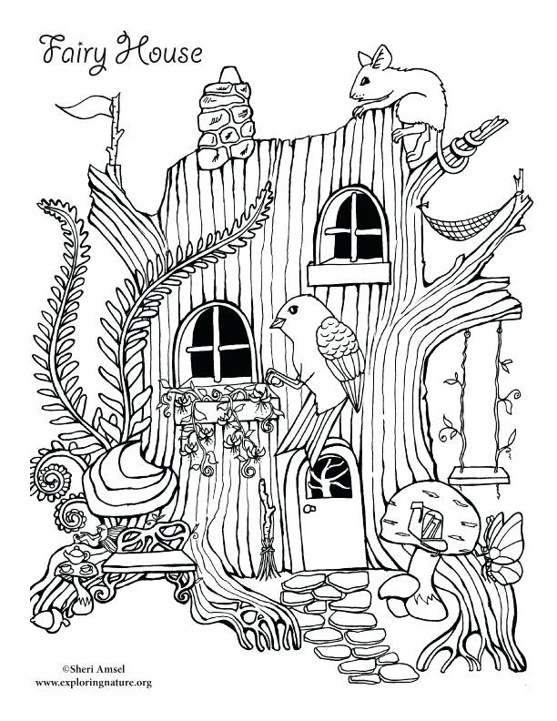 612x792 White House Coloring Page