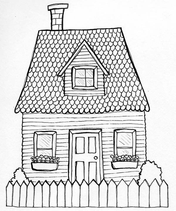 White house line drawing at free for for Draw your house