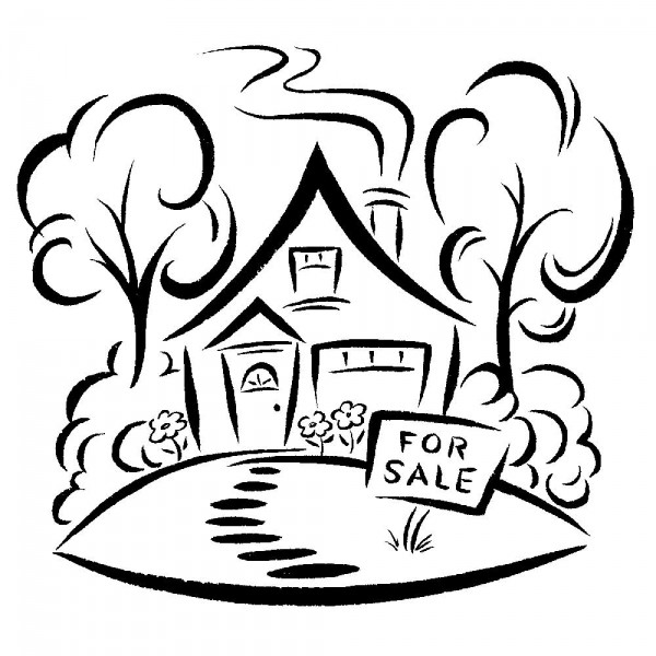600x600 House For Sale Sandy Haight Illustration