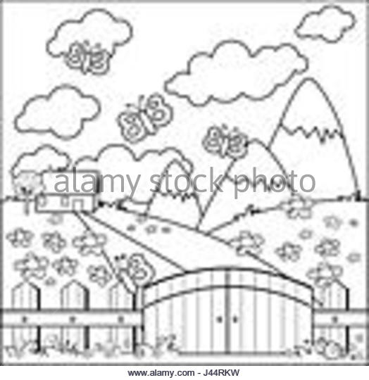 524x540 Illustration House Black Line Drawing Stock Photos Amp Illustration