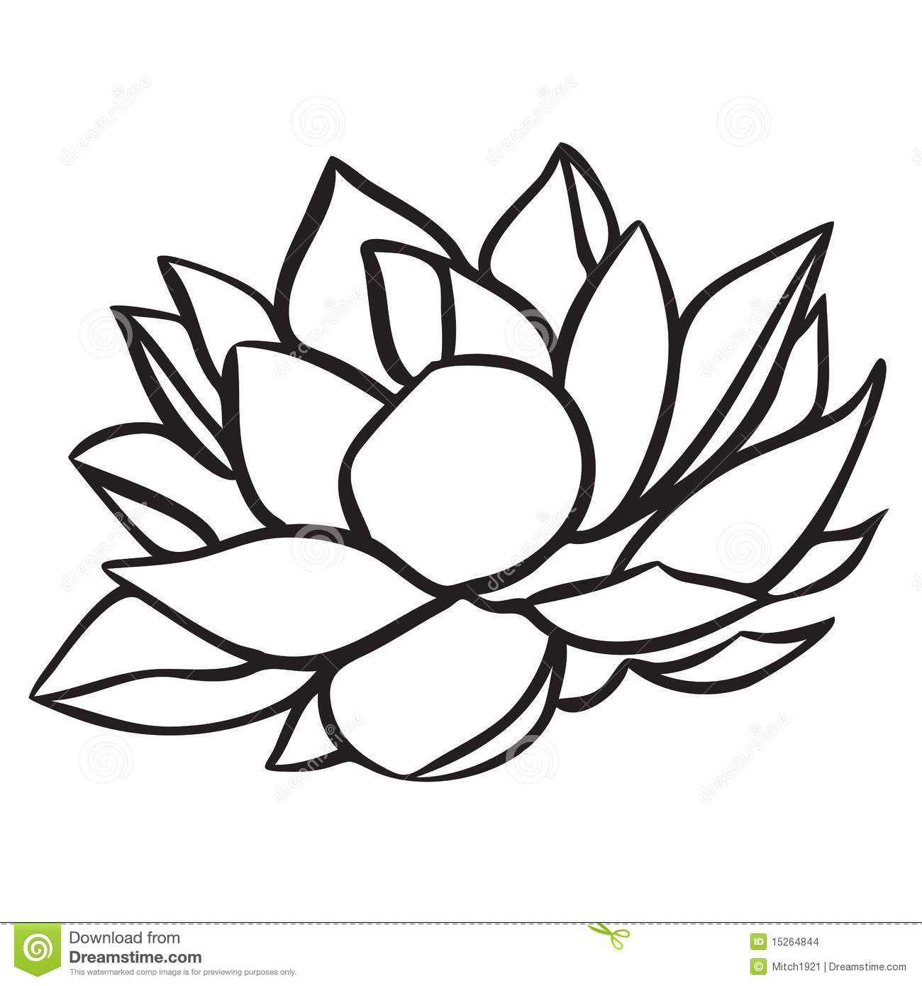 1300x1390 Water Lily Black And White Clipart Collection