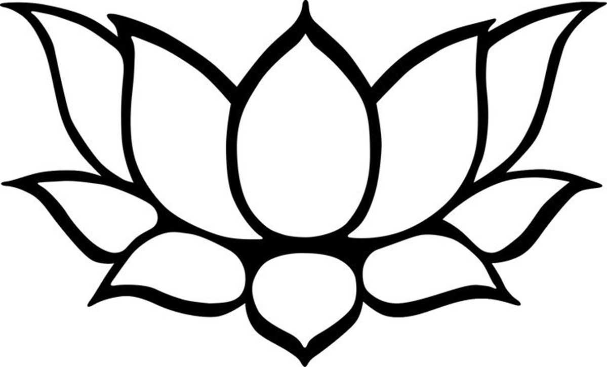 White lotus flower drawing at getdrawings free for personal 1199x725 lotus drawing for kids lotus flower drawing best images izmirmasajfo