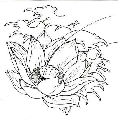 400x412 Lotus Tattoo Design Photo