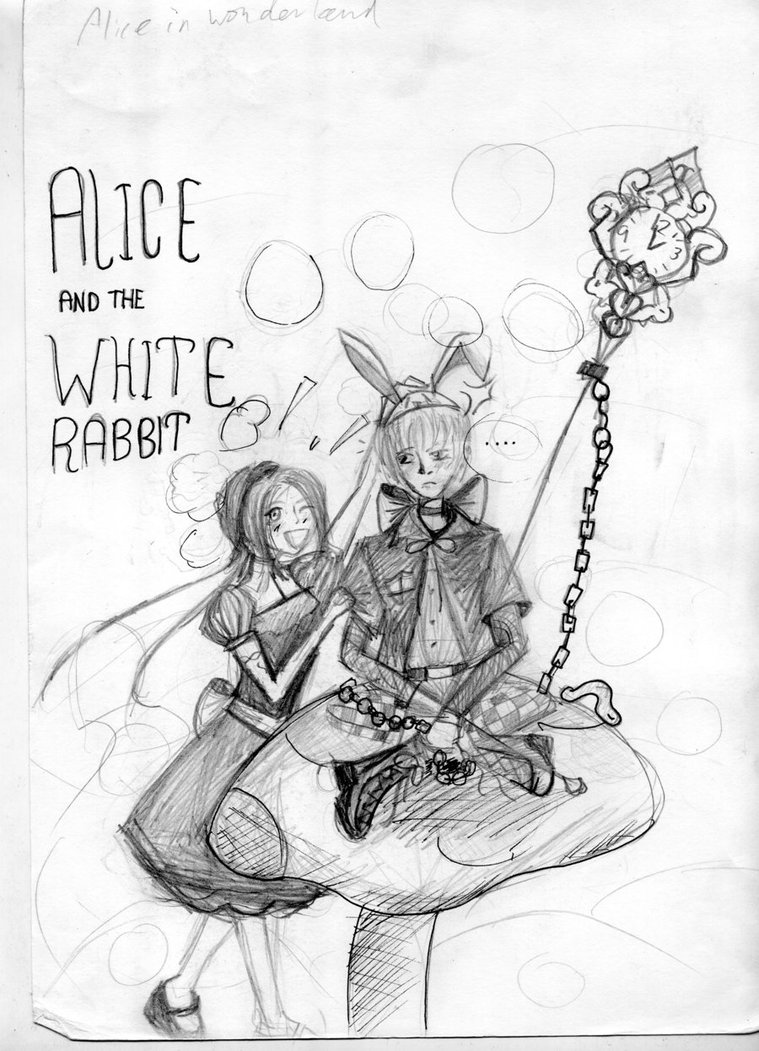 759x1051 Alice And The White Rabbit By Sysaiyan
