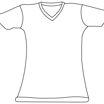 White T Shirt Drawing