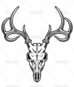 236x280 Deer Skull Drawing Easy