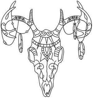 299x314 Tribal Deer Skull Image Day Of Dead Deer Skulls