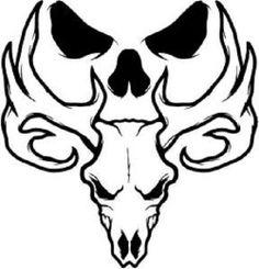 236x245 Whitetail Deer Skull Tattoos Art Nouveau Deer