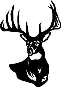 236x338 Simple Deer Skull Drawing