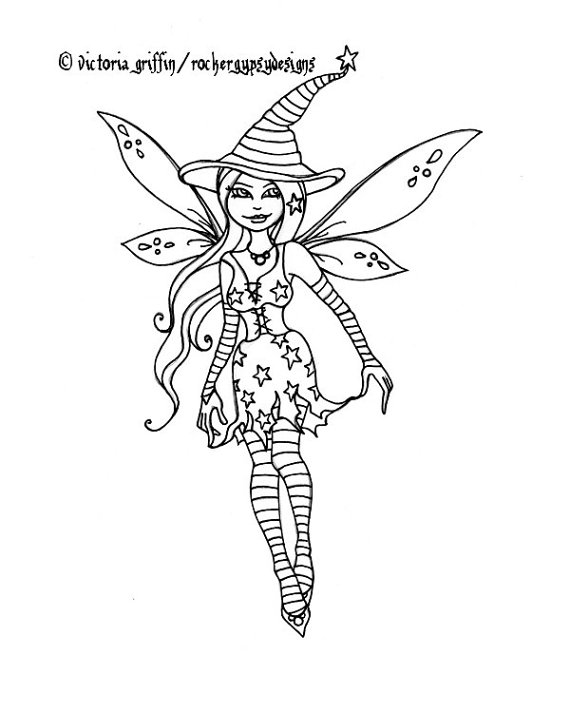 570x713 Halloween Witch Printable Coloring Page Fairy Witch