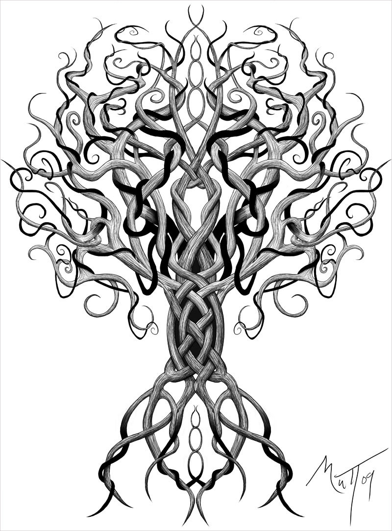 Wicked Tree Drawing