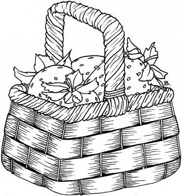 Wicker Basket Drawing