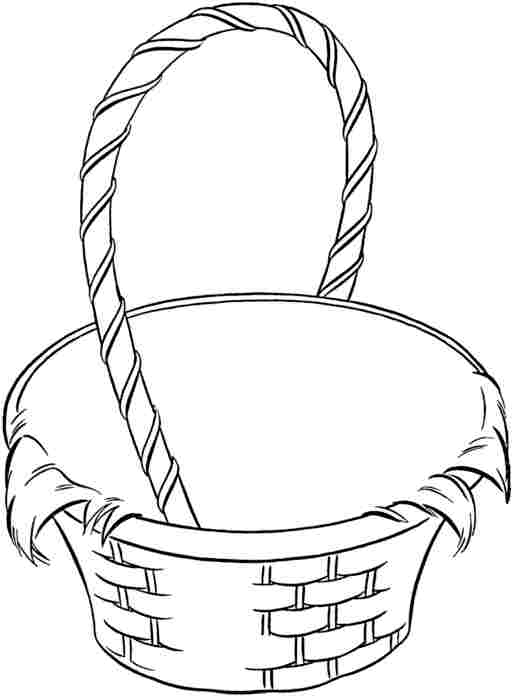 515x700 Empty Easter Basket Coloring Pages Color Bros