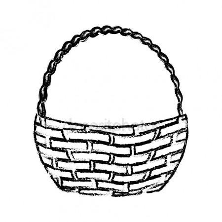 450x450 Empty Wicker Basket Icon Stock Vector Wonderstasy