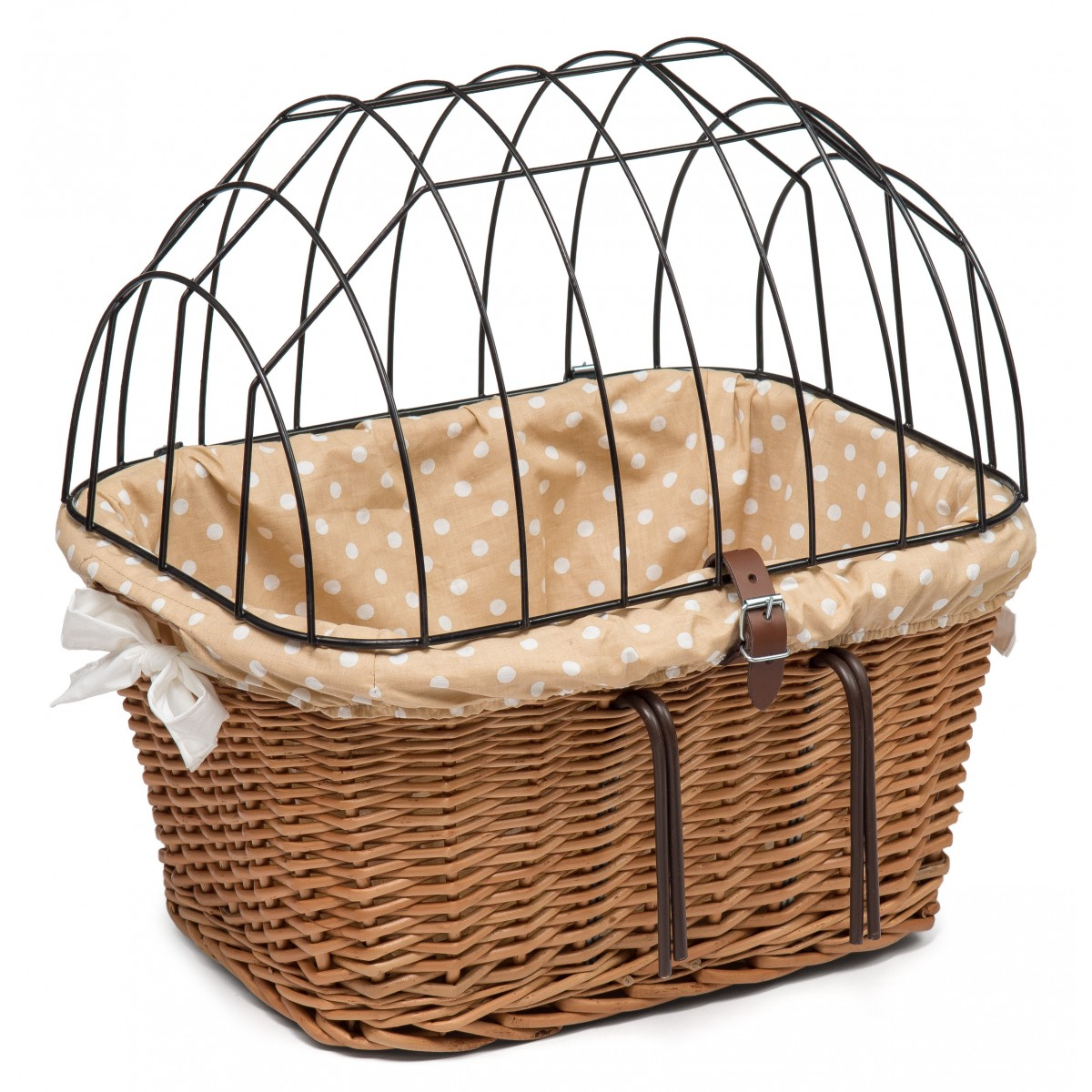 1200x1200 Wicker Bicycle Pet Carrier Basket With Liner