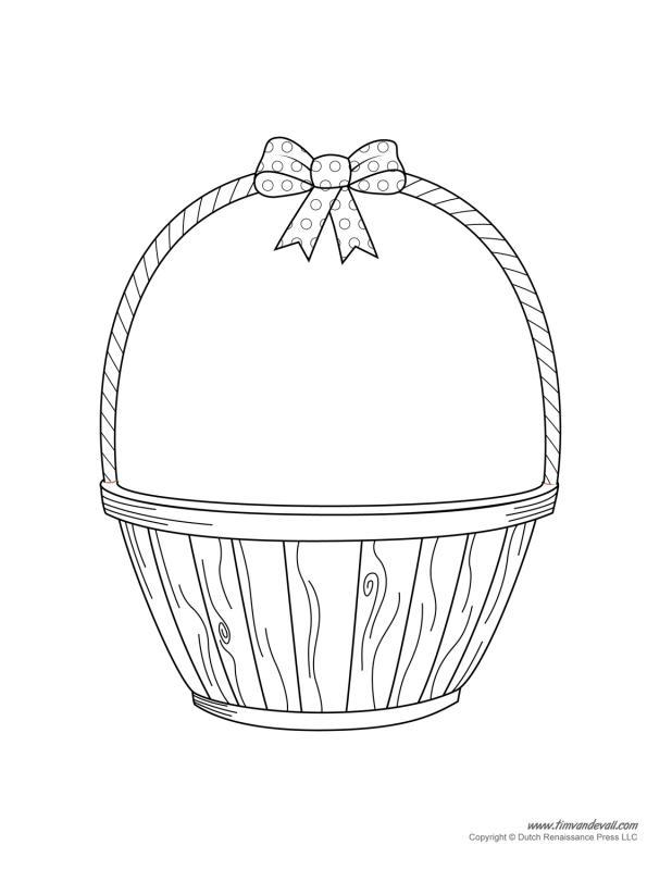 618x800 Empty Basket Clipart
