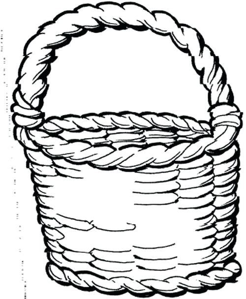 500x608 Basket Coloring Page Apple Basket Coloring Page Fruit Basket Anime