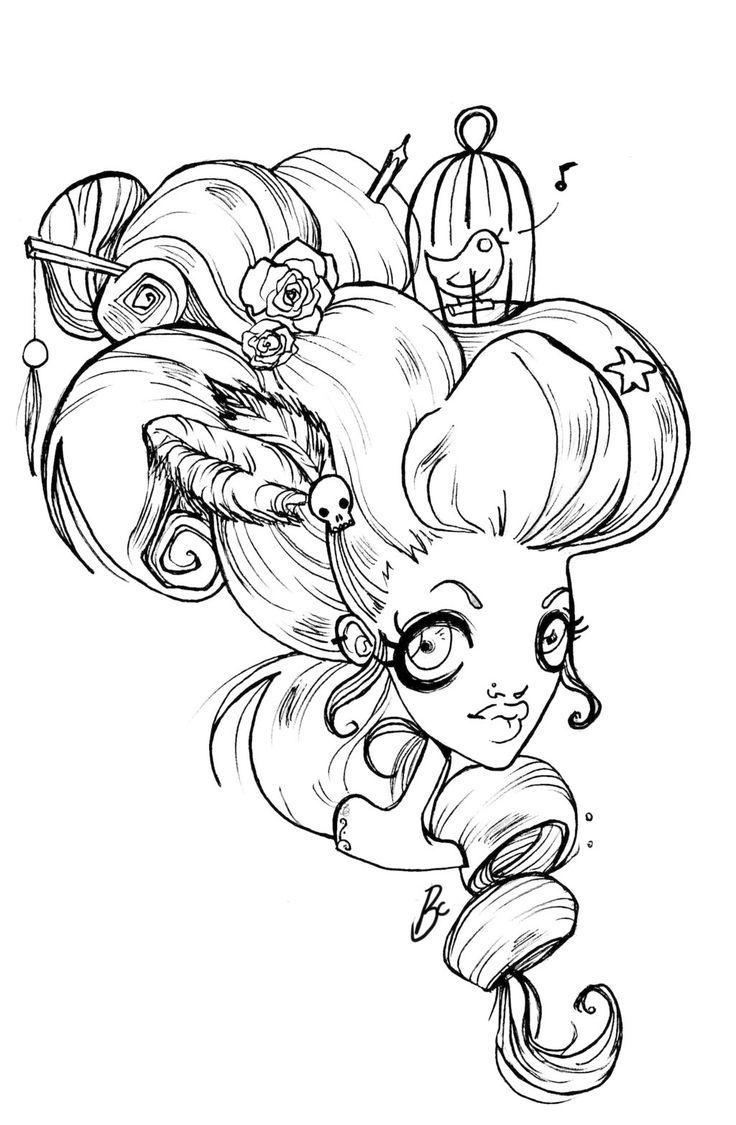 Wig Drawing