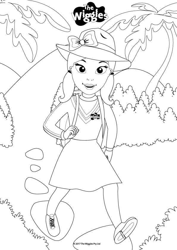 new wiggles coloring pages - photo#38