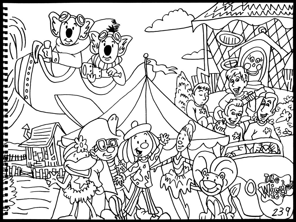 1032x774 Wiggles, Jojo's Circus, Koala Brothers By Averagejoeartwork