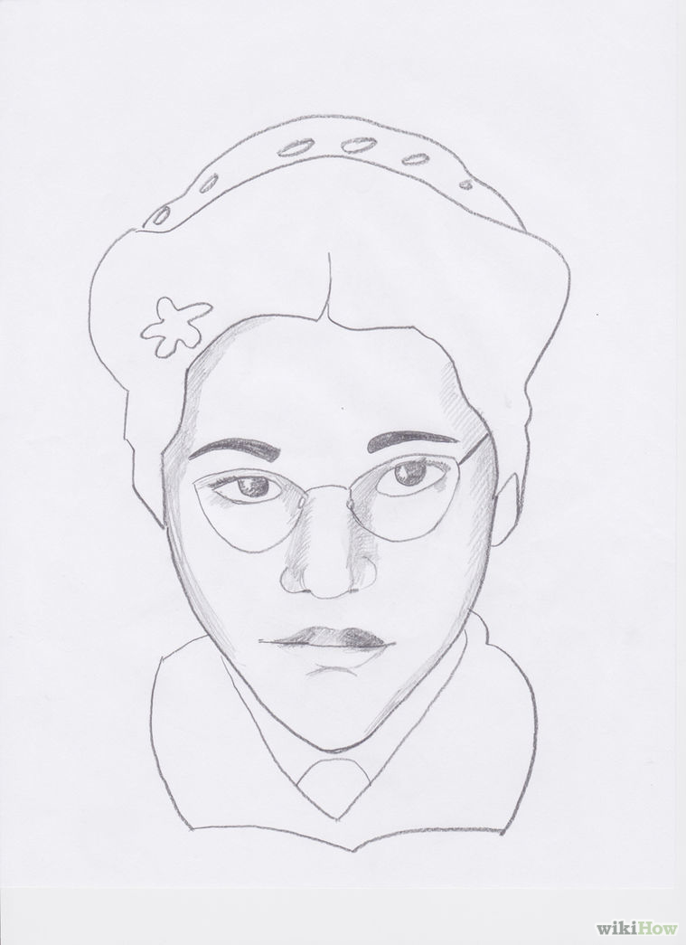 759x1045 How To Draw Rosa Parks 7 Steps (With Pictures)