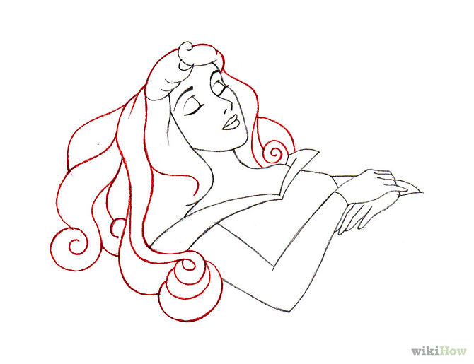 670x515 How To Draw Sleeping Beauty 9 Steps (With Pictures)