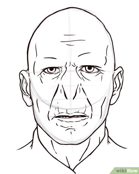 448x560 How To Draw Voldemort 5 Steps (With Pictures)
