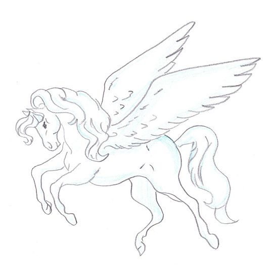 538x549 How To Draw A Pegasus 15 Steps (With Pictures)